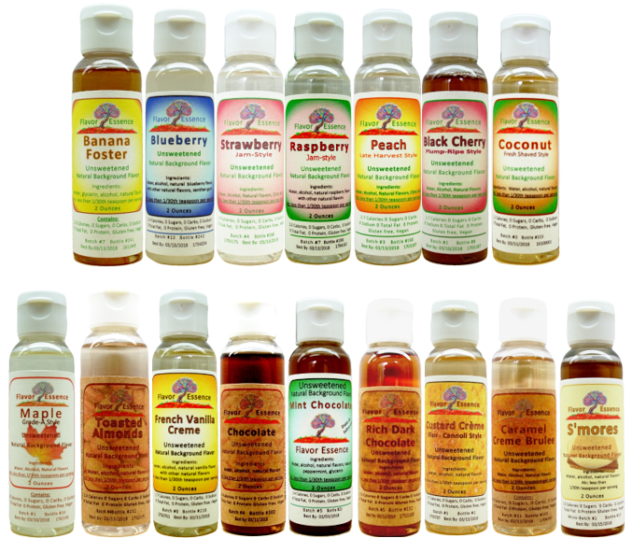 Unsweetened Natural Background Flavorings